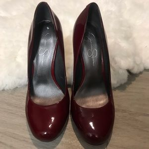 Jessica Simpson Burgundy Patent Leather Pumps